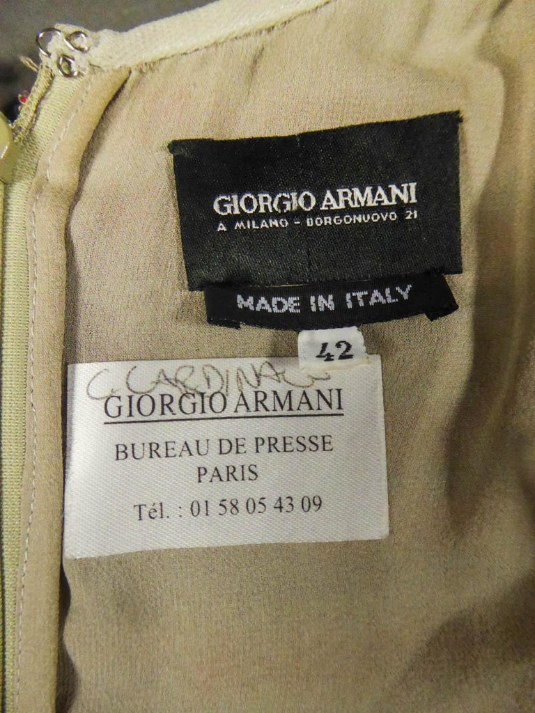 Giorgio Armani Couture fashion show dress worn by Claudia Cardinale - Circa 2000 For Sale 8