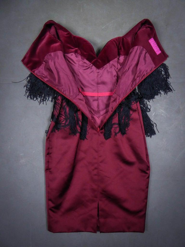Black Christian Lacroix Couture Dress Circa 1990 For Sale