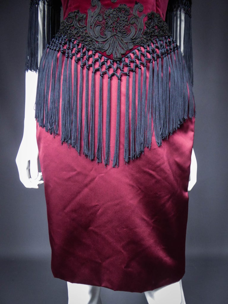 Christian Lacroix Couture Dress Circa 1990 In Excellent Condition For Sale In Toulon, FR