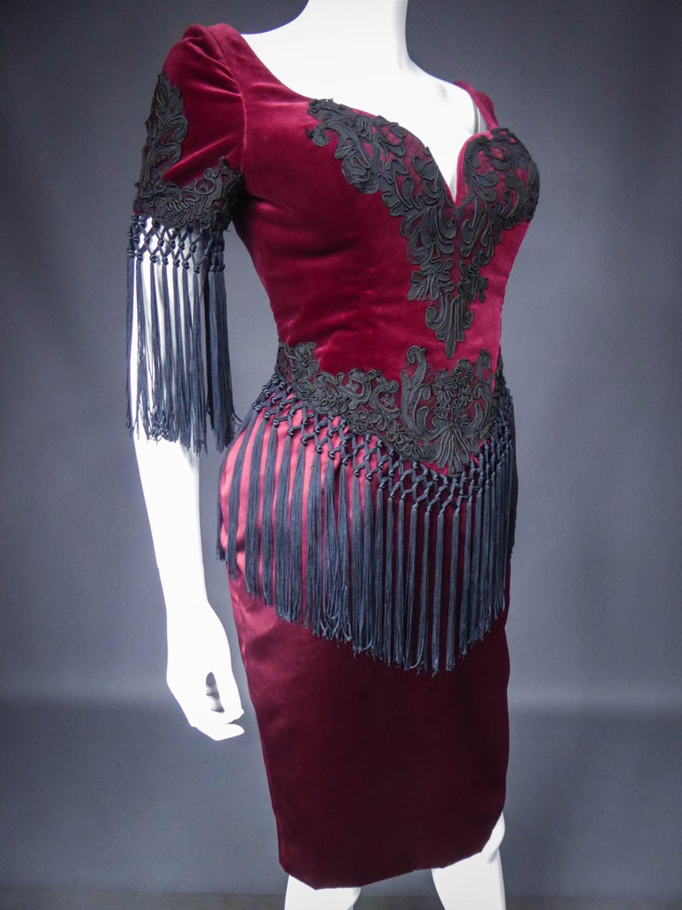 Women's Christian Lacroix Couture Dress Circa 1990 For Sale