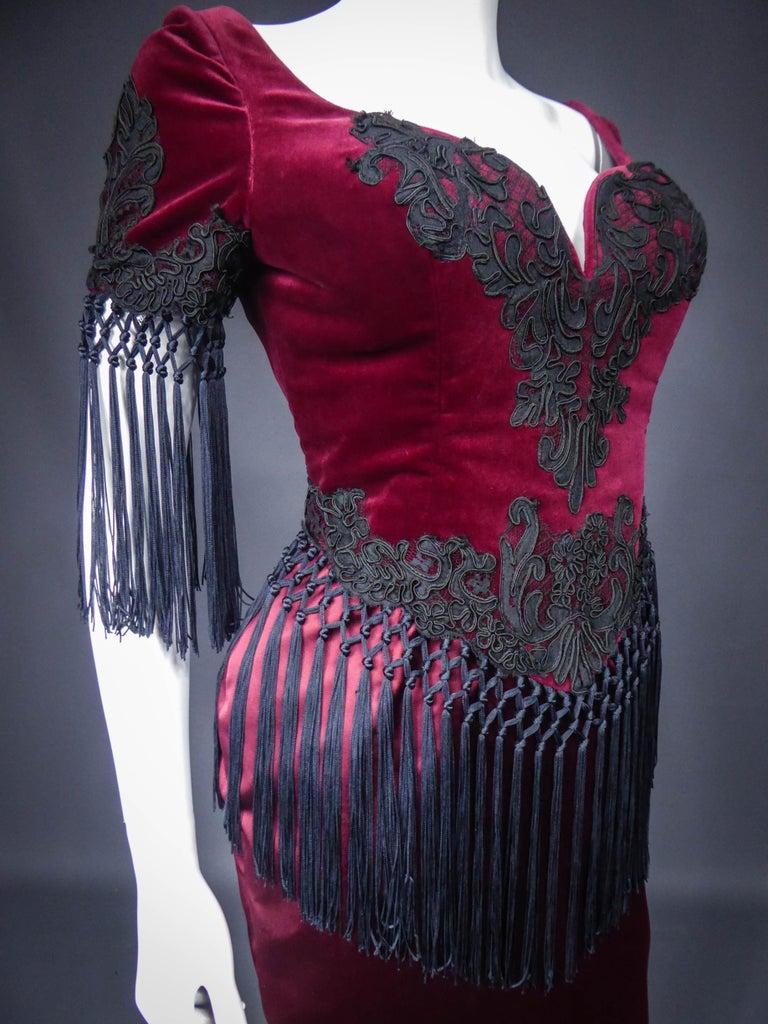 Christian Lacroix Couture Dress Circa 1990 For Sale 1