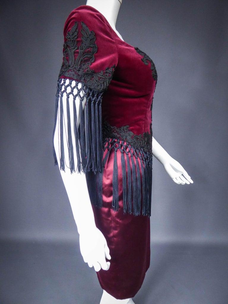 Christian Lacroix Couture Dress Circa 1990 For Sale 3