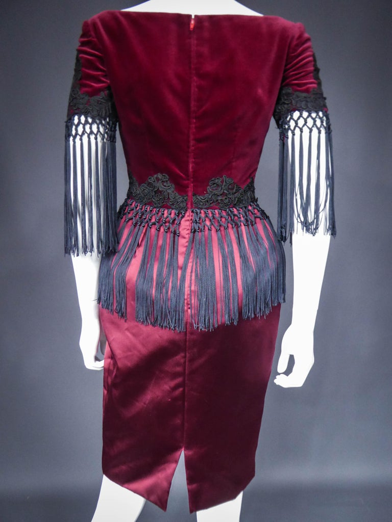 Christian Lacroix Couture Dress Circa 1990 For Sale 4