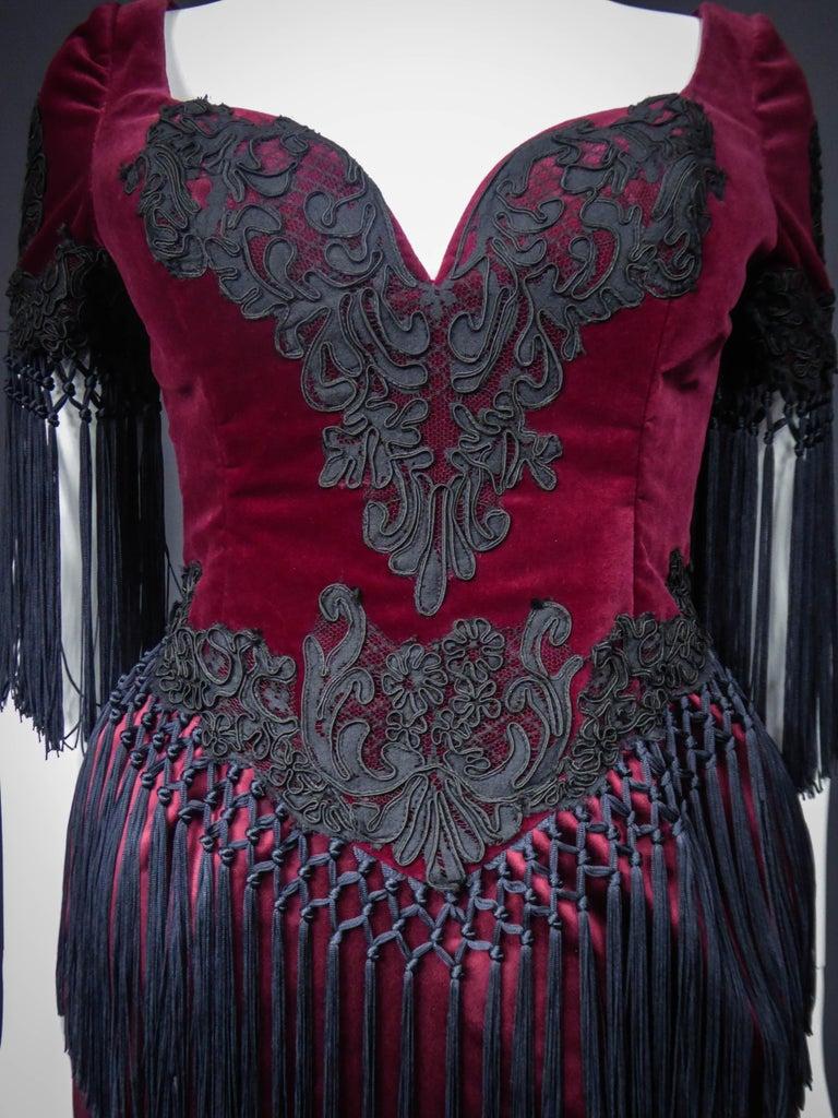 Christian Lacroix Couture Dress Circa 1990 For Sale 7