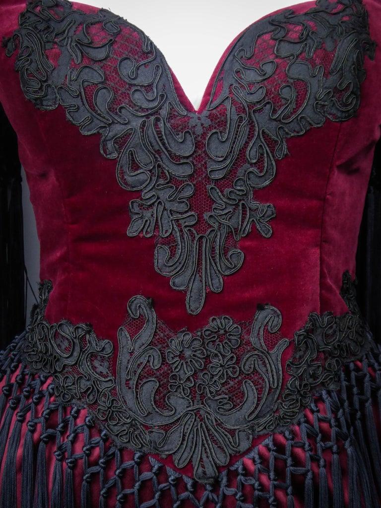 Christian Lacroix Couture Dress Circa 1990 For Sale 8