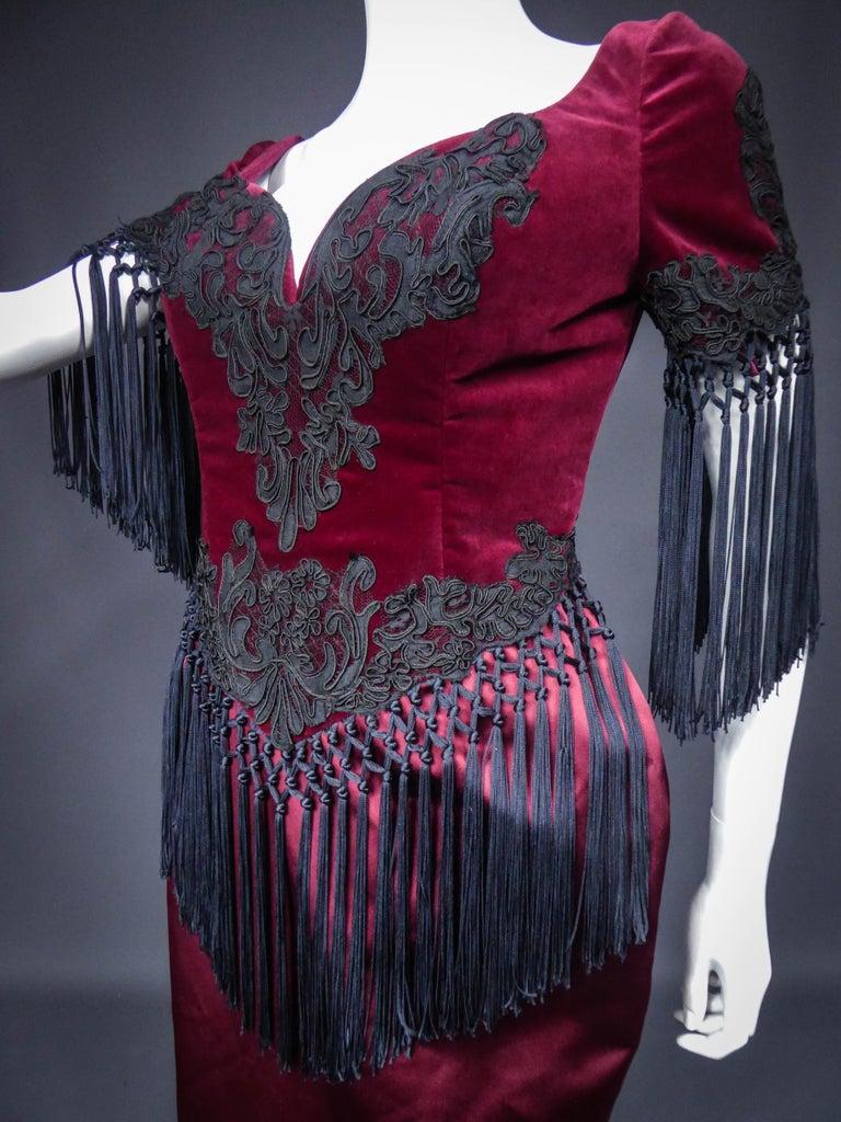 Christian Lacroix Couture Dress Circa 1990 For Sale 9