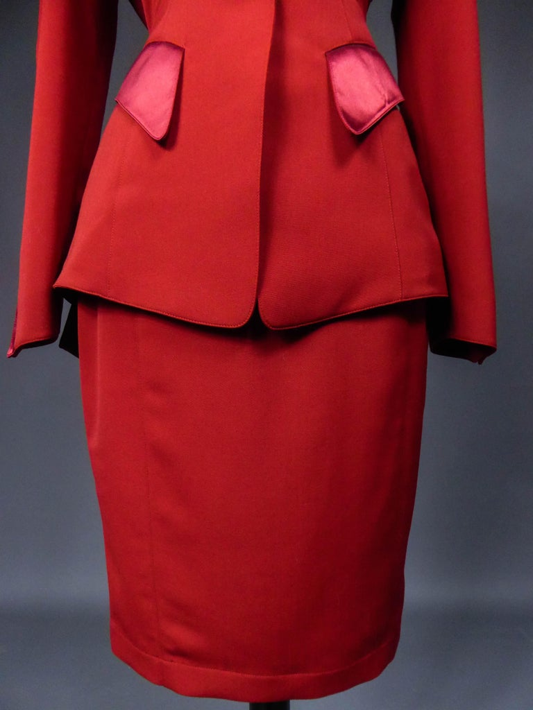 Thierry Mugler Couture Skirt Set Circa 1990 In Excellent Condition For Sale In Toulon, FR