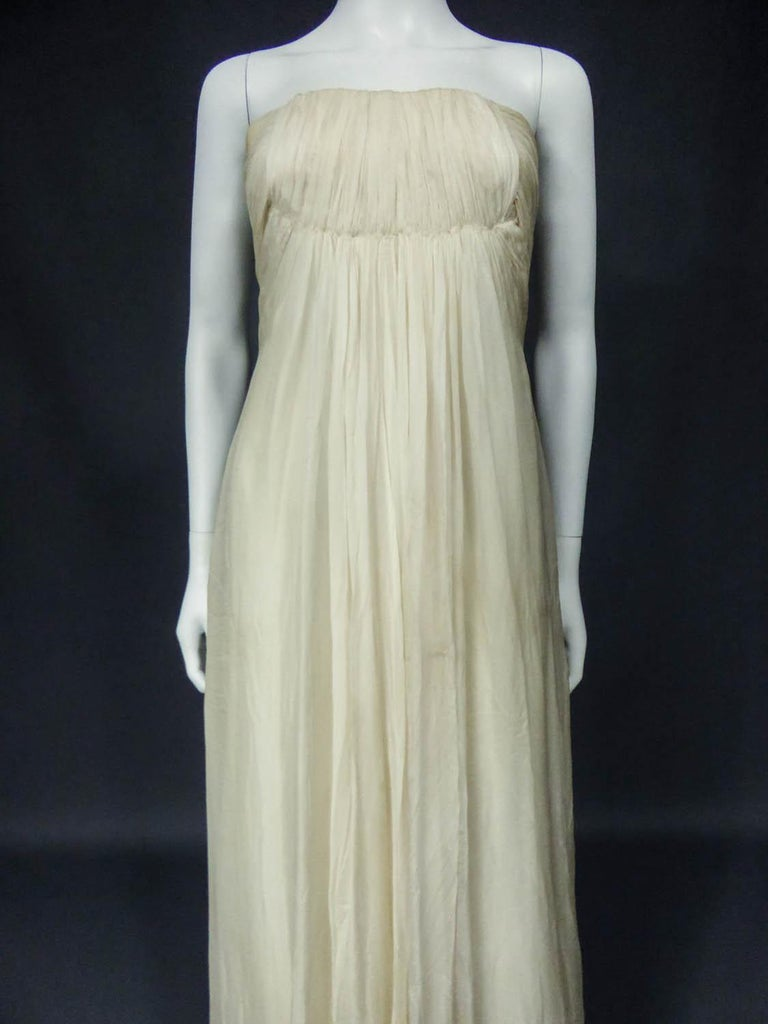 Anonymous French Couture Evening Dress Circa 1970 In Excellent Condition For Sale In Toulon, FR