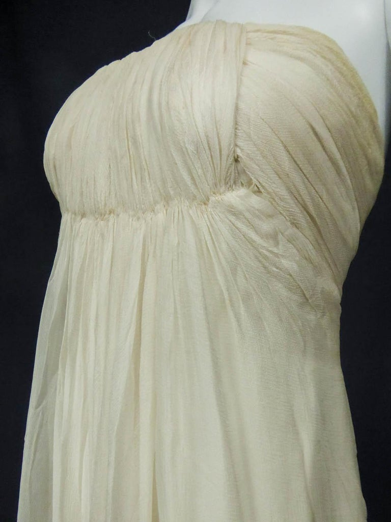 Anonymous French Couture Evening Dress Circa 1970 For Sale 3