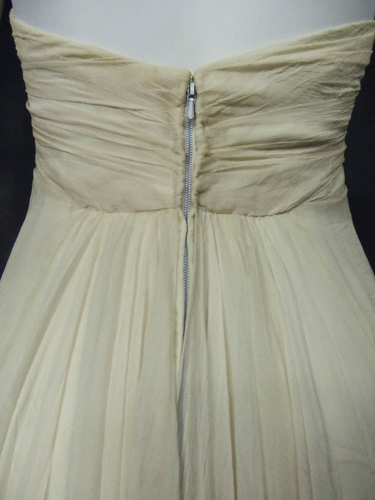 Anonymous French Couture Evening Dress Circa 1970 For Sale 7