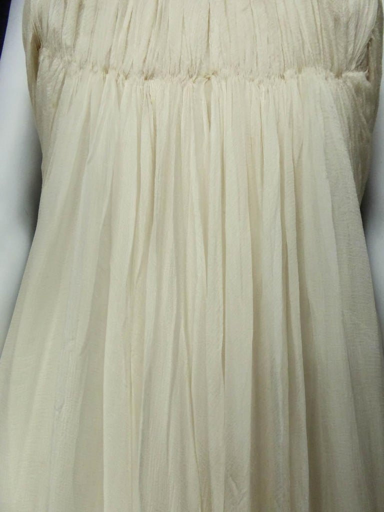 Anonymous French Couture Evening Dress Circa 1970 For Sale 8
