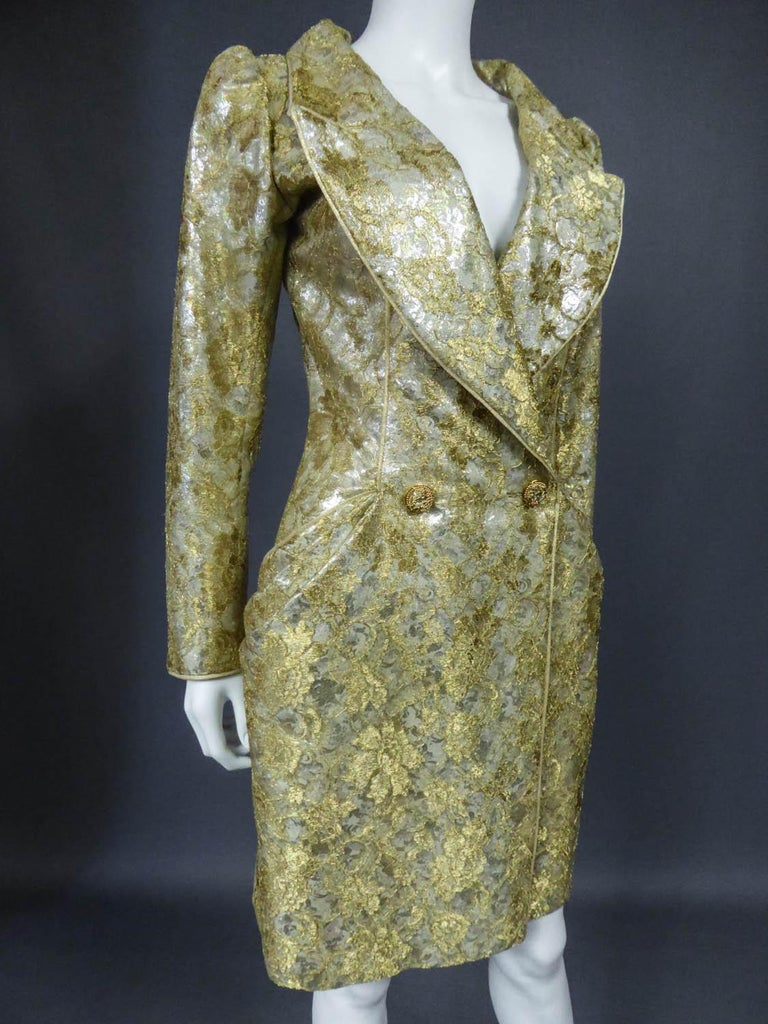 Emanuel Ungaro Couture Evening Dress Circa 1990 For Sale 4