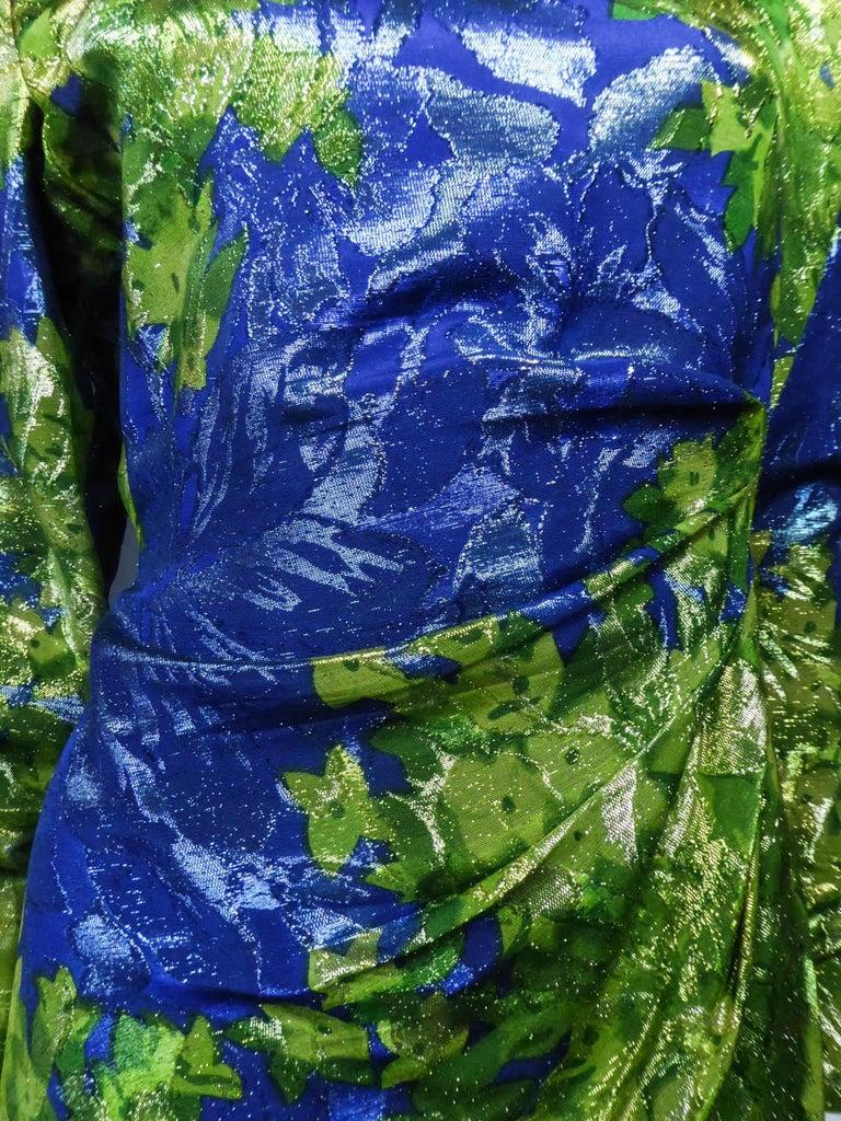Yves Saint Laurent Lamé Evening Dress Van Gogh Collection Circa 1989 For Sale 1