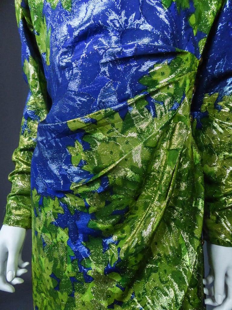 Yves Saint Laurent Lamé Evening Dress Van Gogh Collection Circa 1989 For Sale 2