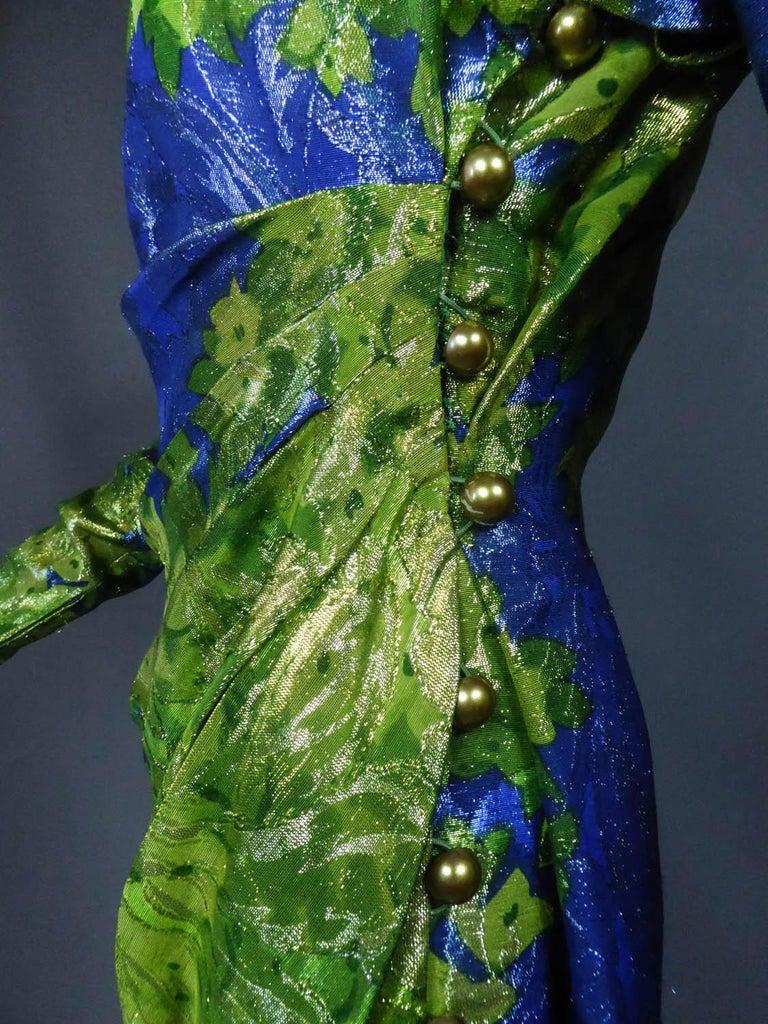 Yves Saint Laurent Lamé Evening Dress Van Gogh Collection Circa 1989 For Sale 6