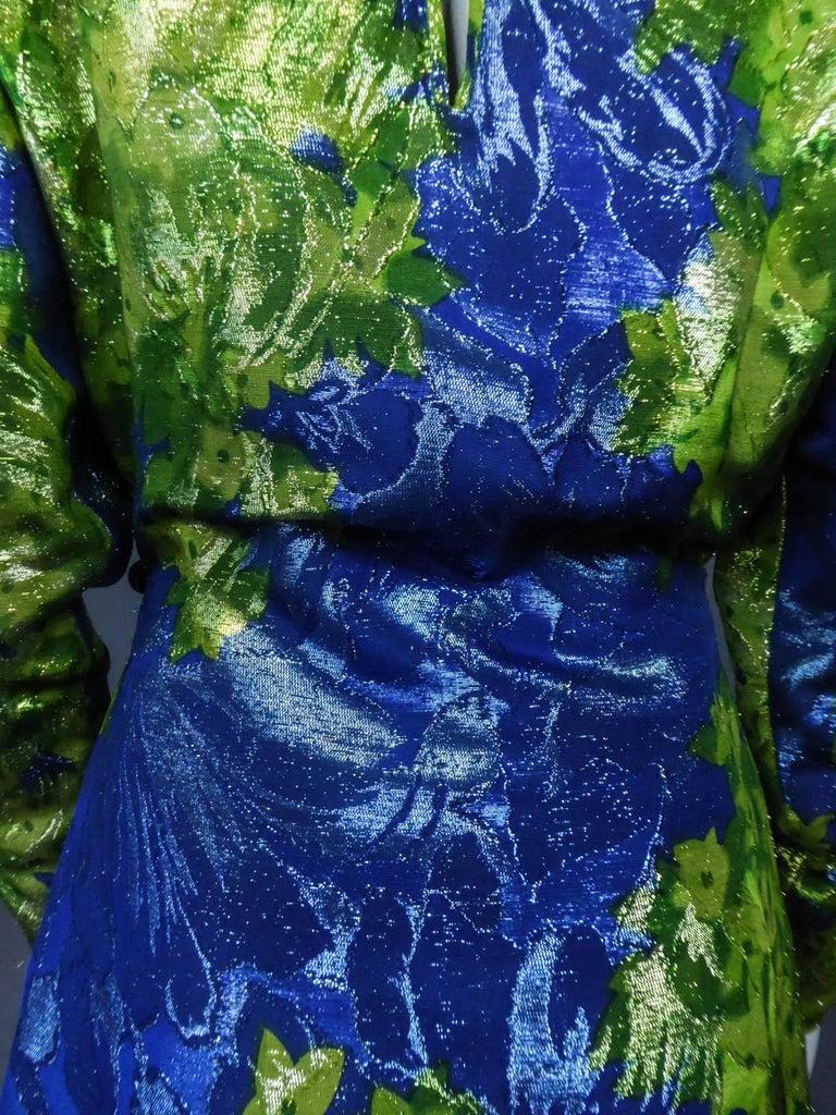 Yves Saint Laurent Lamé Evening Dress Van Gogh Collection Circa 1989 For Sale 8