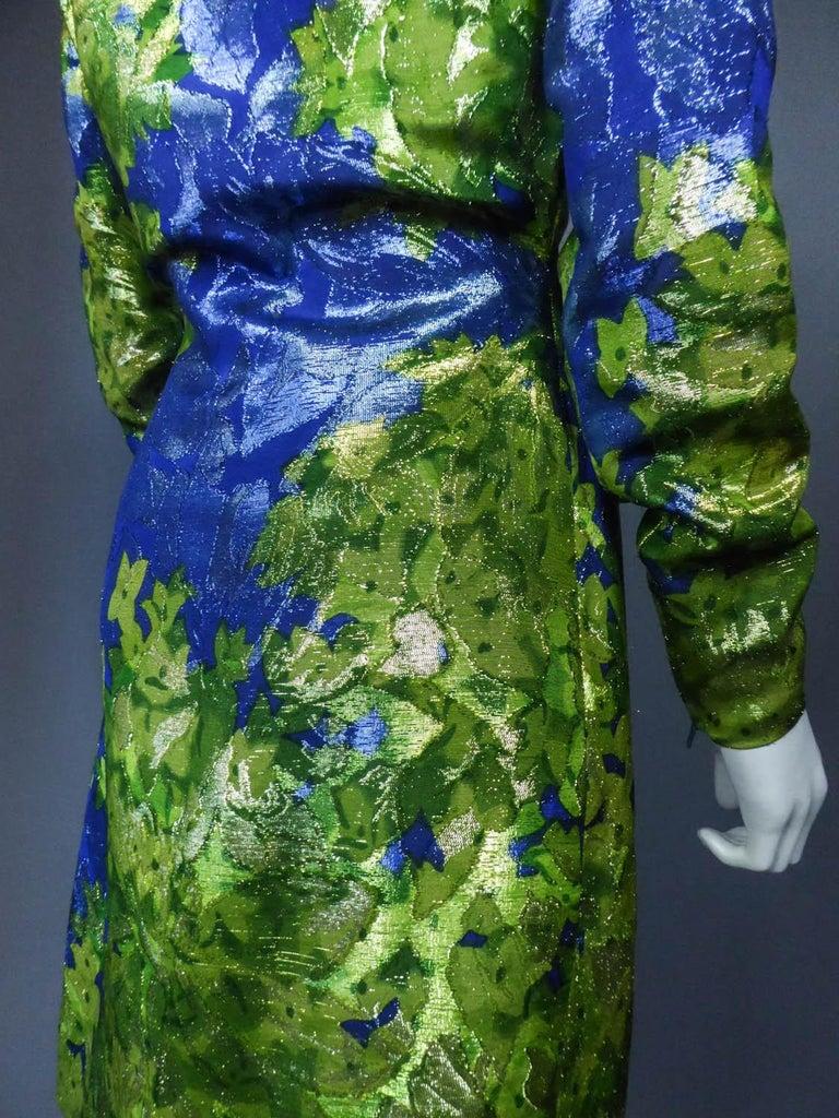 Yves Saint Laurent Lamé Evening Dress Van Gogh Collection Circa 1989 For Sale 10