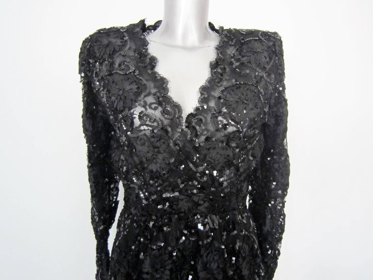Yves Saint Laurent Patron Original Paris Haute Couture evening Dress In Good Condition For Sale In Rome, IT