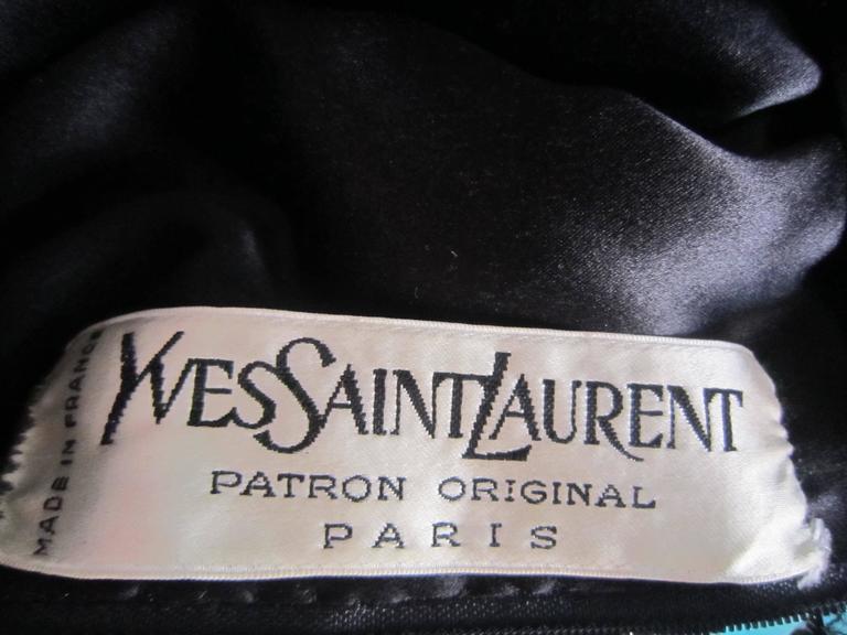 Yves Saint Laurent Patron Original Paris Haute Couture evening Dress For Sale 3