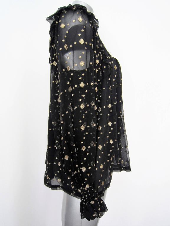 YVES SAINT LAURENT black silk blouse  3