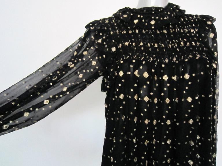 YVES SAINT LAURENT black silk blouse  In Good Condition For Sale In Rome, IT