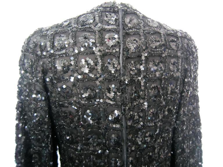 Vintage 1960s Black Sequin dress 4