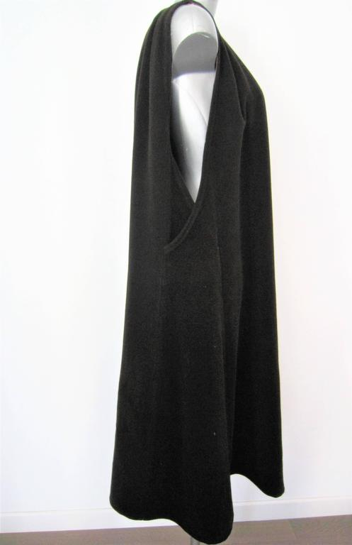 Women's GIORGIO ARMANI brown wool cape For Sale
