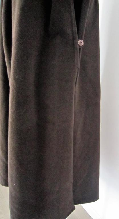 GIORGIO ARMANI brown wool cape For Sale 1