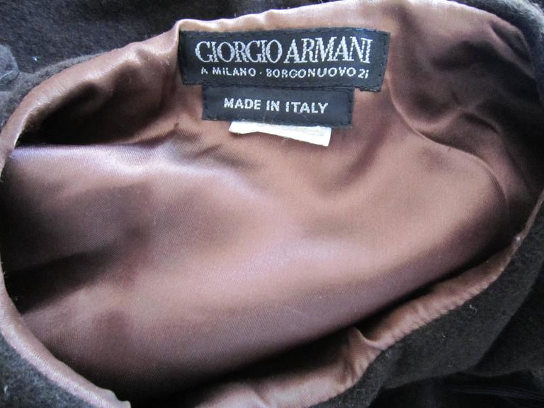 GIORGIO ARMANI brown wool cape For Sale 3