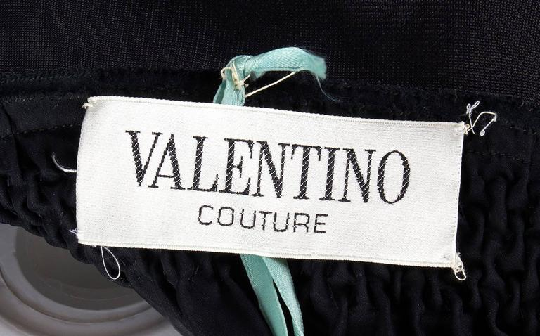 1970s Valentino Haute Couture vintage silk black dress 5