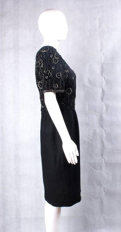 Valentino Night vintage black beaded dress 2