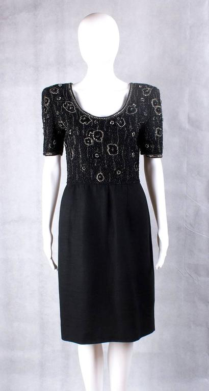 Valentino Night vintage black beaded dress 3