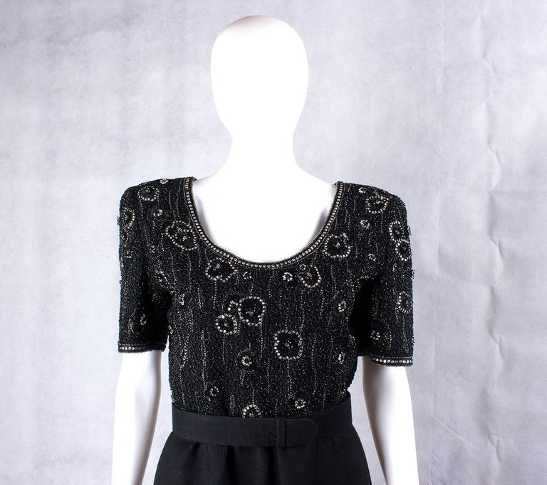 Valentino Night vintage black beaded dress 4