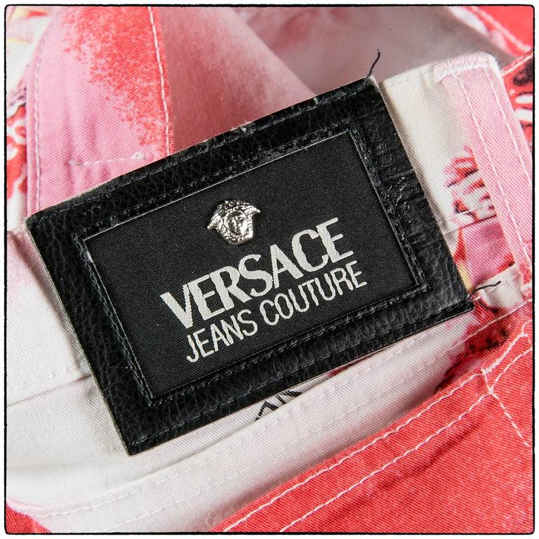 1990s Versace jeans Couture seashell collection pants 5