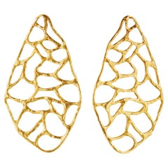 Giulia Barela 24 karat Gold Plated Bronze Africa Earrings