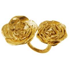 Giulia Barela 24 karat gold plated bronze Cameliae Ring
