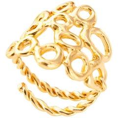Giulia Barela 24 karat Gold Plated Bronze Cloud Ring