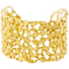 Giulia Barela 24 carat Gold Plated Bronze Pebbles Bracelet
