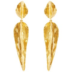 Giulia Barela 24 karat Gold Plated Bronze Arizona Long  Earrings