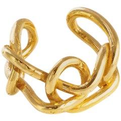 Giulia Barela 24k Gold Plated Bronze  Knot Light Ring