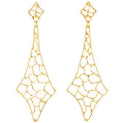 Giulia Barela 24 karat Gold Plated Bronze Tower Earrings