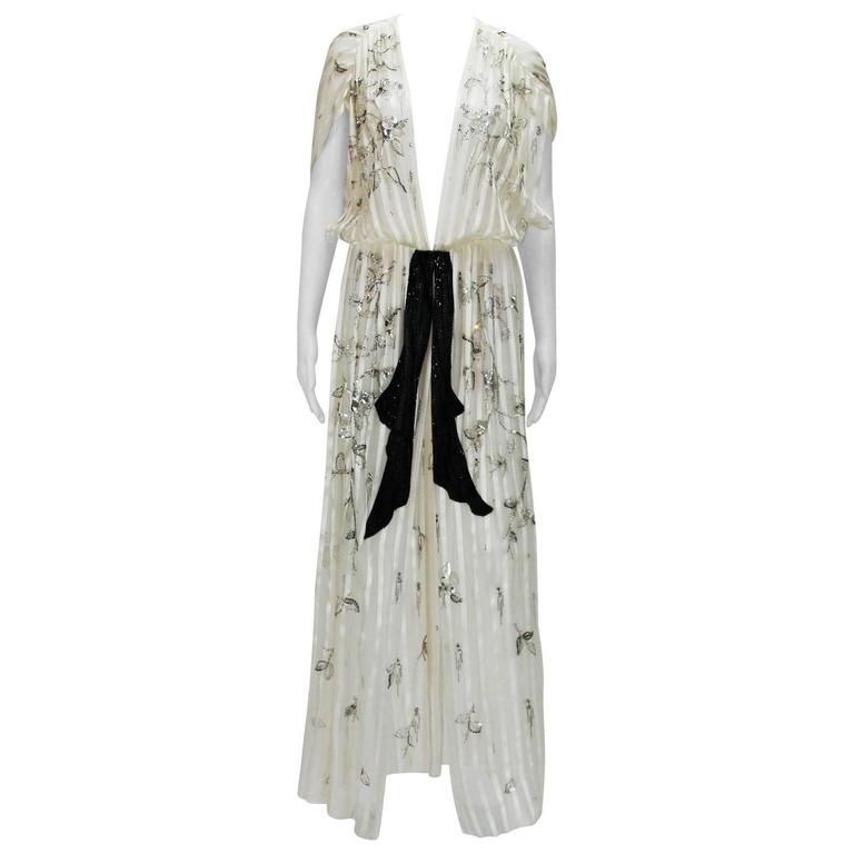 Christian Dior Printemps-Ete 1979 Numbered Beaded Embroidered Dress Duster