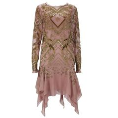 New EMILIO PUCCI 7K Fully Beaded Silk Cocktail Dress It.42 - US 6