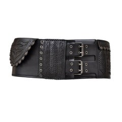 Tom Ford for Yves Saint Laurent F/W 2001 Wide Leather Belt with Secret Pocket