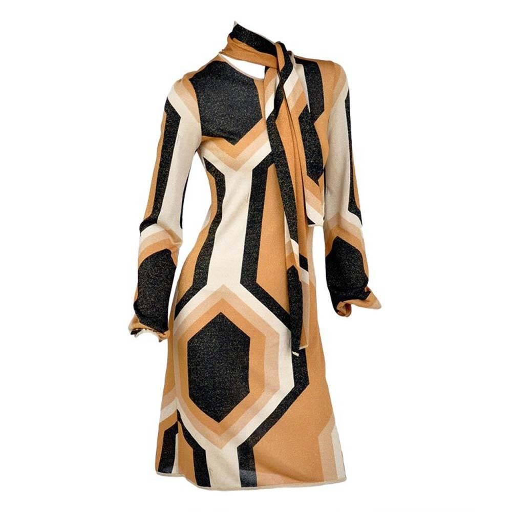 Tom Ford for Gucci F/W 2000 Collection Kaleidoscope Metallic Dress M