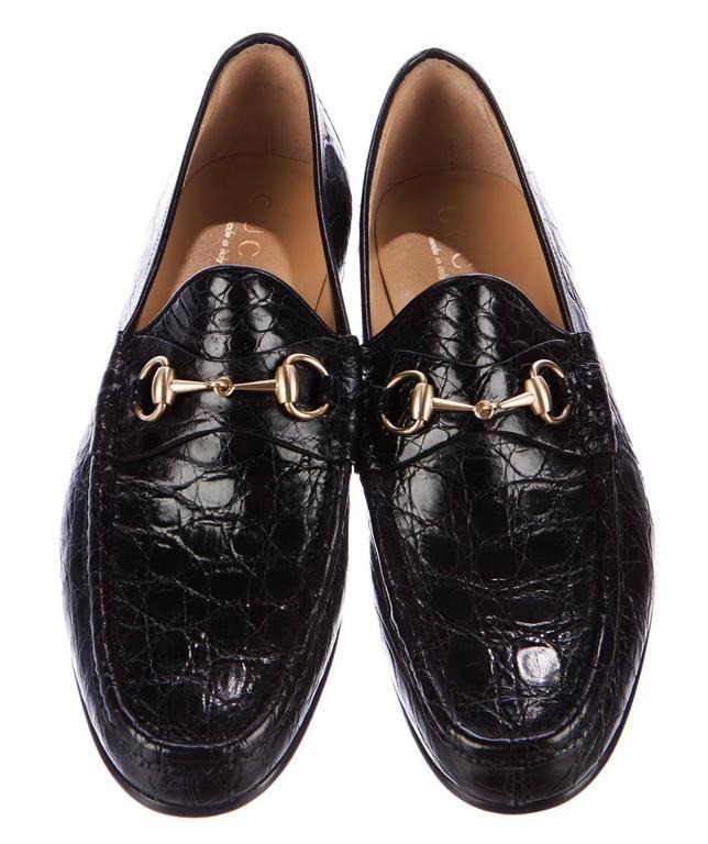 f3de855e2fb New GUCCI Horsebit Crocodile Men s Dress Loafers Designer size 10 D - US  10.5 D Black