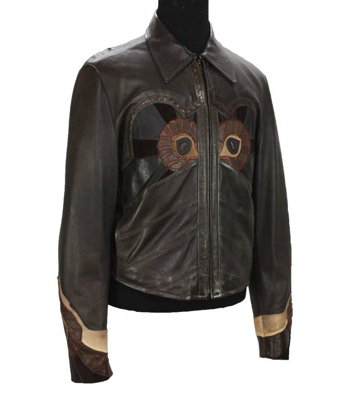 Black Rare Tom Ford for Gucci Runway Men's Leather Western Jacket S/S 2004 It.54 For Sale