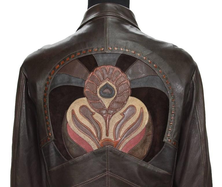 Rare Tom Ford for Gucci Runway Men's Leather Western Jacket S/S 2004 It.54 6