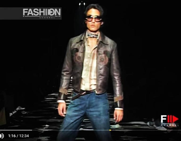 Rare Tom Ford for Gucci Runway Men's Leather Western Jacket S/S 2004 It.54 7