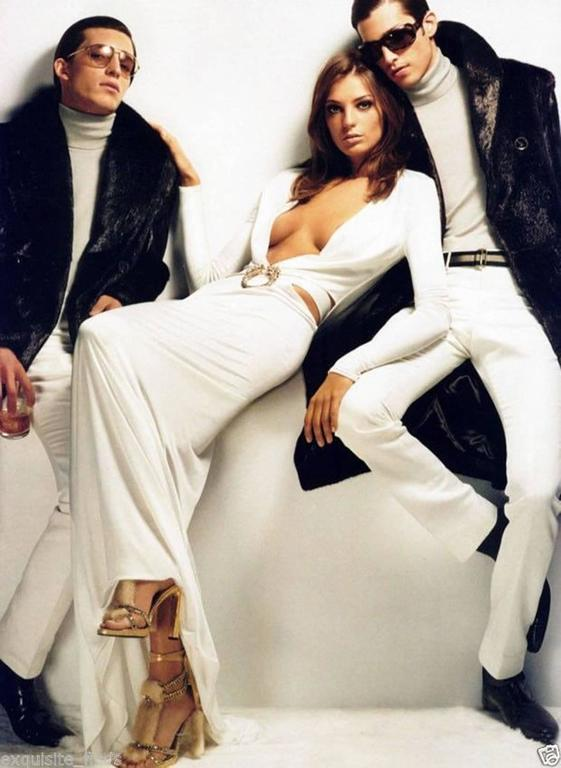 Women's New Tom Ford for Gucci Swarovski Crystals Snakeskin Mink Fur Sandals Gold 7.5  For Sale